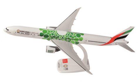 """Emirates B777-300ER A6-EPU """"Expo Dubai 2020"""" zöld változat 1:200 PPC"""