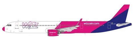 WizzAir Airbus A321neo HA-LVC (pink orrú) 1:400 NG Modell