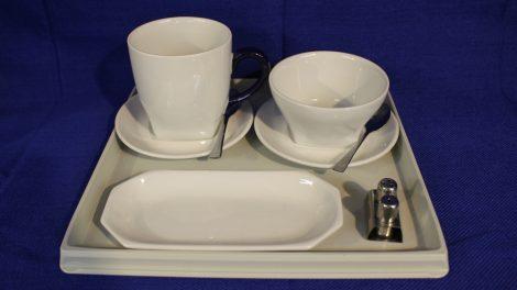 Malév fedélzeti reggeliző szett (Hollóházi porcelán)