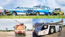 """Reptéri tűzoltóautó + repülőgépvontató + oldtimer """"járműves"""" élménycsomag"""