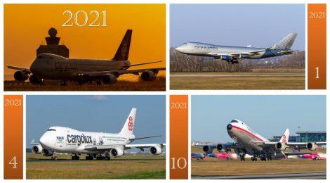 2021 Az égbolt királynője - Cargo naptár