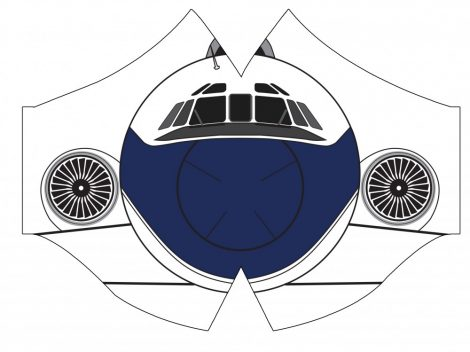 Malév Tu-154 maszk (régi festés)