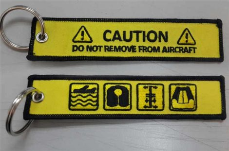 Safety card kulcstartó