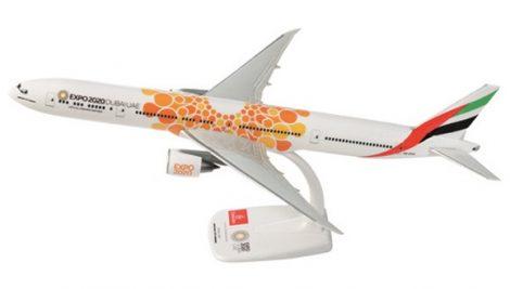 "Emirates B777-300ER A6-EPO ""Expo Dubai 2020"" narancs változat 1:200 PPC"