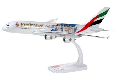 """Emirates Airbus A380 A6-EUG """"Real Madrid"""" 1:250 Herpa"""
