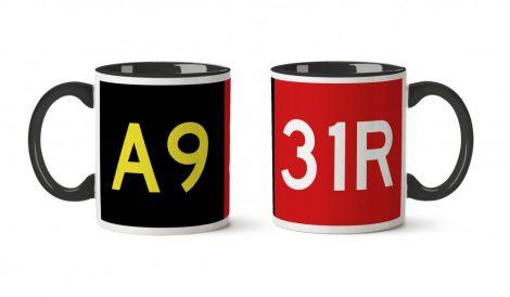 Reptér-kollekció: A9-31R bögre, színes, 3dl