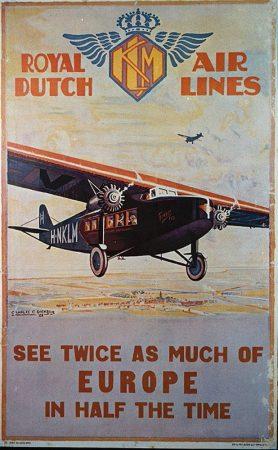 "KLM ""Europe"" fém poszter 20x30cm"