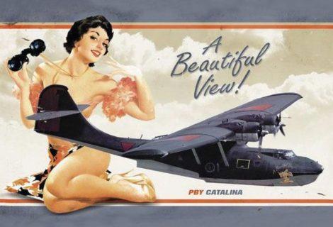 PBY Catalina pin-up fém poszter 20x30cm