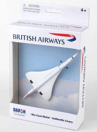 British Airways Concorde fém modell playsethez