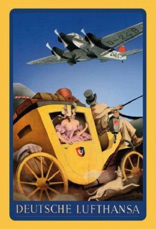Deutsche Lufthansa retro fém poszter 20x30cm