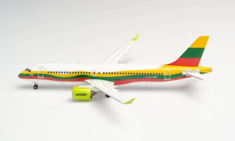 """Air Baltic A220 YL-CSK """"Lithuania"""" 1:200 Herpa"""