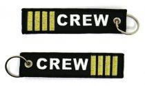 """3 csíkos """"crew"""" kulcstartó 13x3cm"""