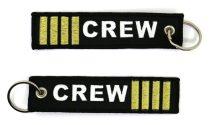 """4 csíkos """"crew"""" kulcstartó 13x3cm"""