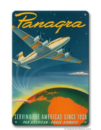"Panagra PAN AM ""Serving the Americas"" fém poszter 20x30cm"