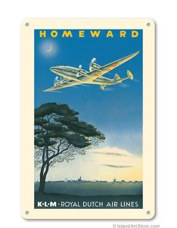 """KLM """"Homeward"""" fém poszter 20x30cm"""