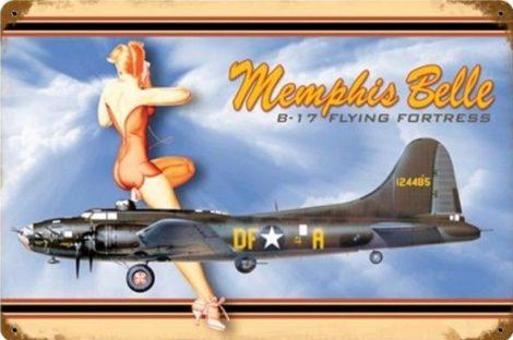 Memphis Belle pin-up fém poszter 30x45cm