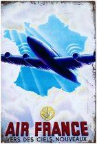 """Air France """"Vers des ciels nouveaux"""" fém poszter 20x30cm"""
