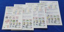 Malév biztonsági tájékoztató csomag ( Safety card ) ( 4db )